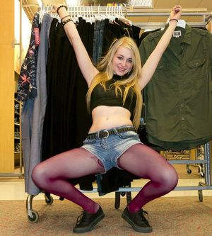 teens wearing pantyhose