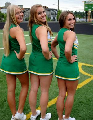 brunette cheerleaders